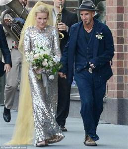 Piper Perabo wears silver dress at her wedding to Stephen Kay | Daily Mail Online