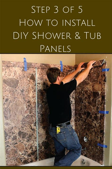 how to install a wall 5 steps to install decorative diy shower and tub wall panels
