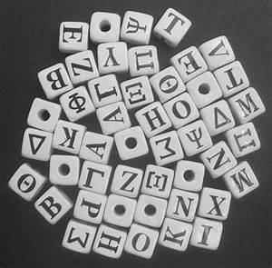 9mm ceramic cube greek alphabet beads horizontal holes With greek letter beads bulk