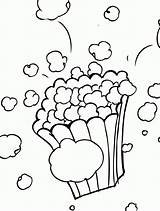 Popcorn Clipart Clip Coloring Colouring Printable Coloringhome sketch template