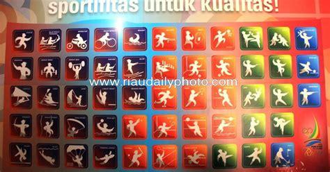 pictogram cabang olahraga pon xviii riau riau daily photo