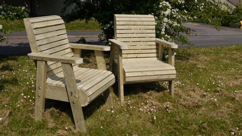 chunky garden chairs  wooden workshop oakford devon