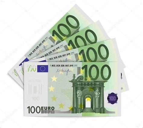 canap 100 euros billetes de 100 euros archivo imágenes vectoriales