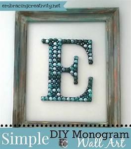 Diy monogram wall art embracing creativity