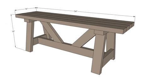 rustik 2x4 dimensions diy how to build a rustic bench gnh lumber co