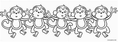 Monkeys Coloring Monkey Pages Printable Cool2bkids