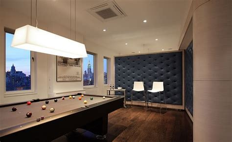 Inspiring Looking Penthouse with Billiard Living Room in