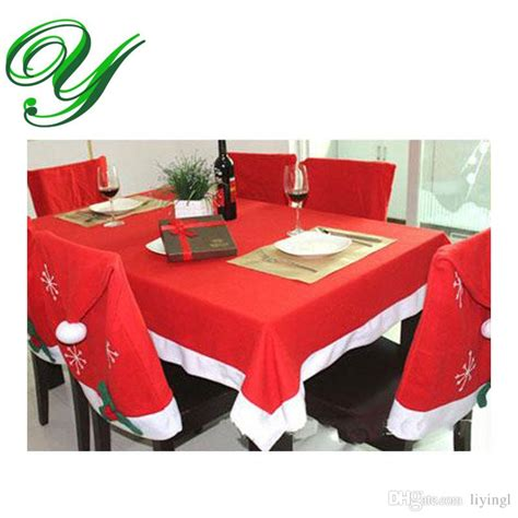dinner table chair covers tablecloths chair cover set christmas decoration red table