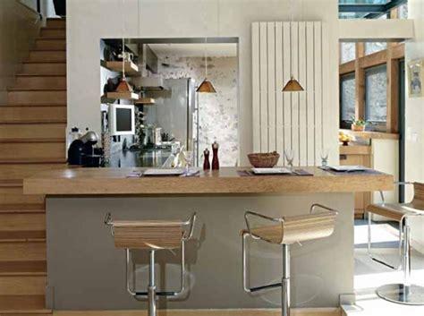 comptoir separation cuisine salon aide modele cuisine americaine avec bar