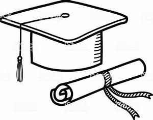 Graduation Cap Diploma Hat Education Doodle Stock Vector ...