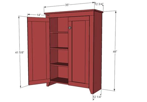 standing linen cabinet plans woodworking projects