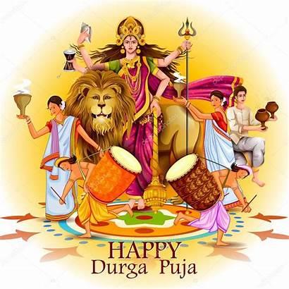 Durga Puja Happy Festival Background India Holiday