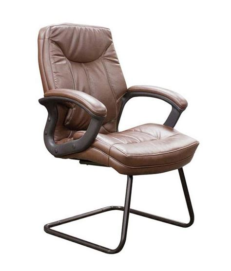 ofd office furniture faux leather sled base guest chair