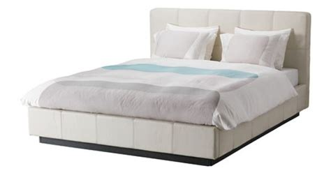 folldal bed frame w white leather king ikea 799