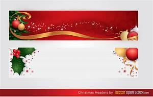 Christmas headers Vector   Free Download