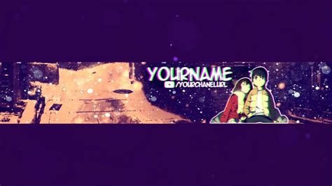 Anime Channel Banner Template Free Anime Banner Template Psd Boku
