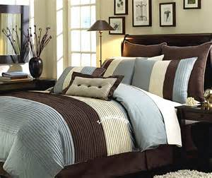 7pcs queen bed in a bag regata brown blue comforter set