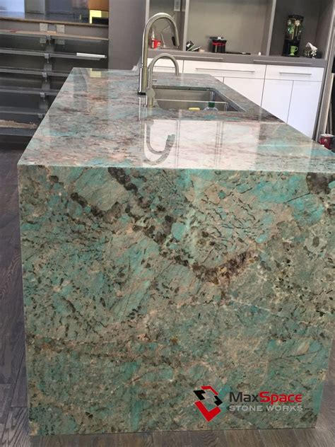 how is a kitchen island amazonite quartzite island and onyx kitchen maxspace