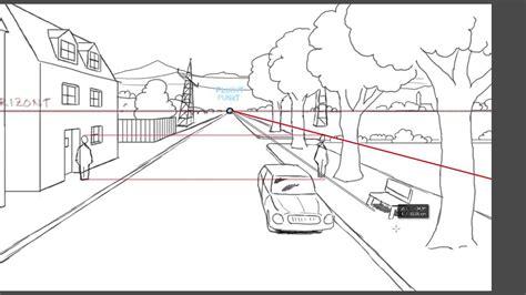 Perspektivisch Zeichnen Lernen by Zeichnen Lernen Perspektive Tutorial Bezugslinien Und
