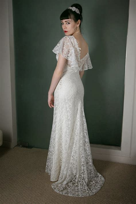 lace dress vintage inspired wedding dress of the week in dreamy