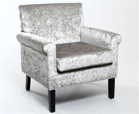 cavell silver crushed velvet occasional chair