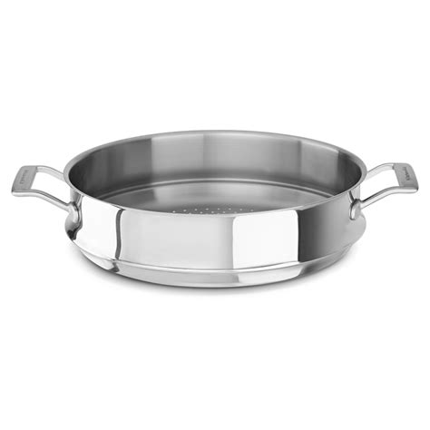 kitchenaid tri ply stainless steel  wok steamer insert walmartcom walmartcom