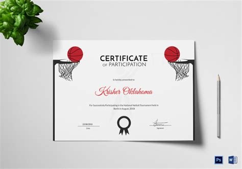 sports certificate template  word psd ai indesign