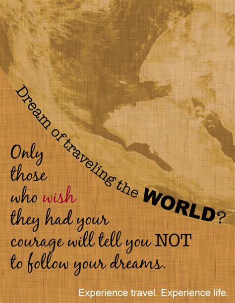 Dream Of Traveling The World? #studyabroad  Travel Quotes