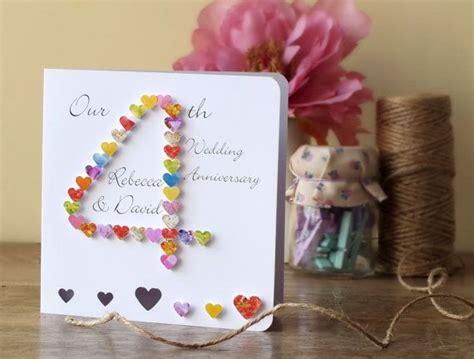 wedding anniversary card handmade personalised