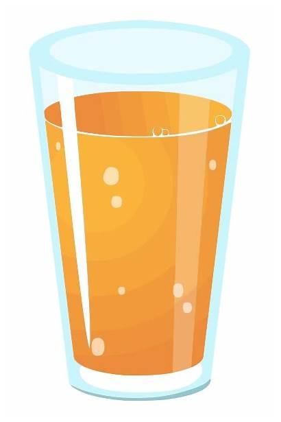 Juice Clipart Orange Glass Clip Squash Vector