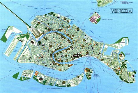 tourist map venice venezia venise pinterest