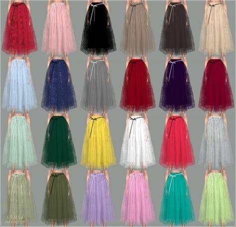sims marigold ribbon ballerina long skirt sims  downloads