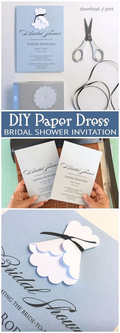 sweet and simple bridal shower invitation with a diy paper