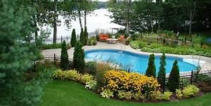 Photo D Amenagement Piscine : amenagement paysager autour d une piscine creus e ~ Premium-room.com Idées de Décoration