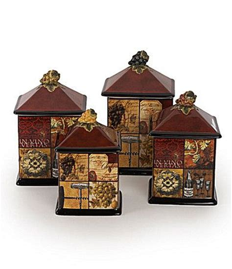 Wine Kitchen Canisters by 1000 Images About Kitchen Canisters Bread Boxes Cake