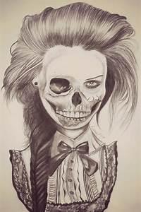 half skull face by naawaal on DeviantArt