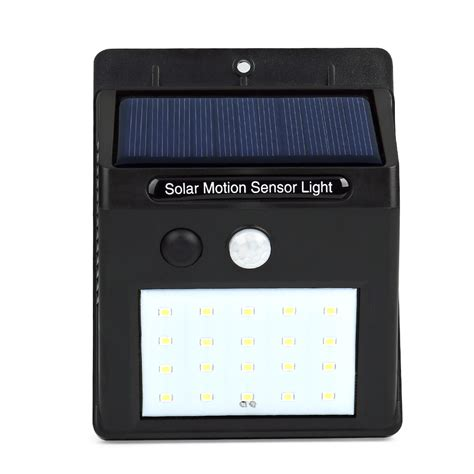 solar sensor wall light led solar power pir motion sensor wall light 20 led