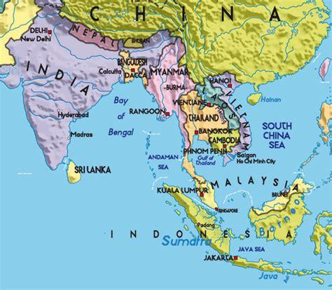 Übersichtskarte - Asien - pavo-muticus.com