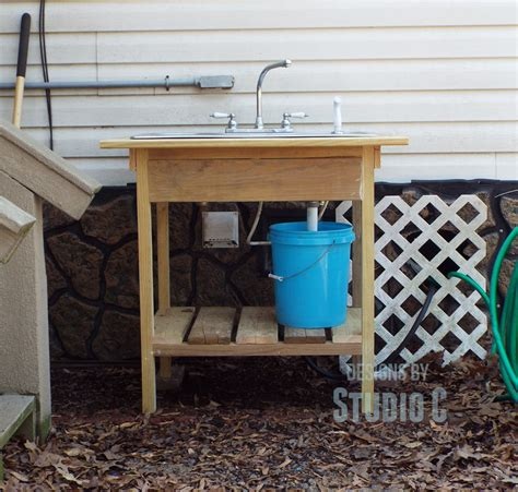 outdoor kitchen sink plumbing install an outdoor sink faucet 3869