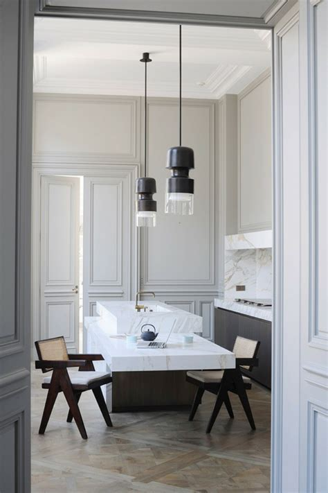 cuisine parall鑞e avec ilot plan cuisine rectangulaire maison design sphena com