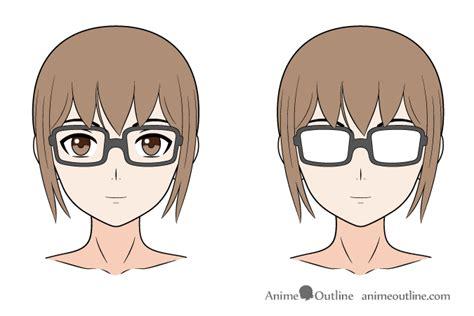 Anime Eye Reflection How To Draw Anime Glasses Animeoutline