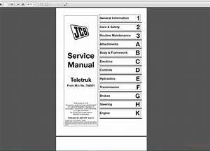 Jcb Tlt 2 0  2 5  3 0  3 5d Lift Teletruck Service Manual