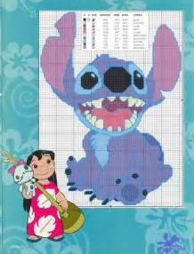 Lilo and Stitch Cross Stitch Pattern