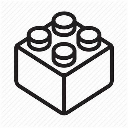 Lego Brick Icon Icons Outline Clipart Addon