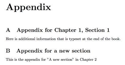 appendices write code for appendix within chapter