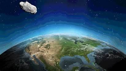 Asteroid Earth Animated Hit Terra Impact Gifs