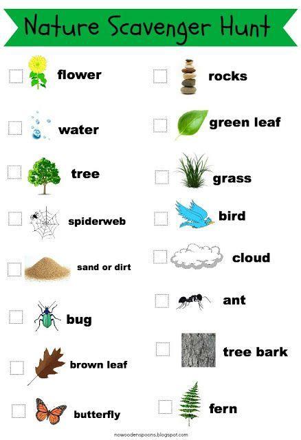 preschool scavenger hunt ideas nature walk scavenger hunt list with pictures photo 504