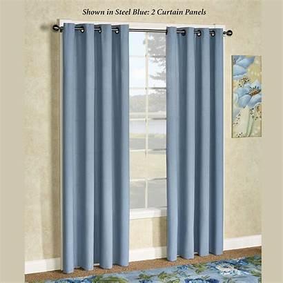 Grommet Curtain Glasgow Panel Canvas Rod E829