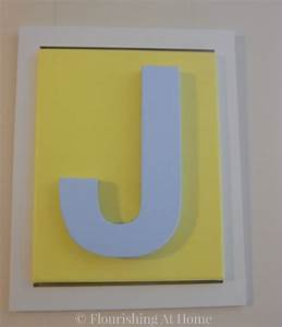 Diy framed letter canvas art for kids room at home with zan for Letter canvas