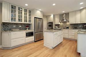 Luxury kitchen ideas counters backsplash cabinets for Kitchen colors with white cabinets with huge wall canvas art